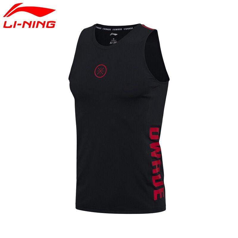 Li Ning herren Wade Serie Weste Atmungsaktiv 73% Polyester 27% Spandex Futter Sport Base Schicht Tank AUDM033 MBJ113