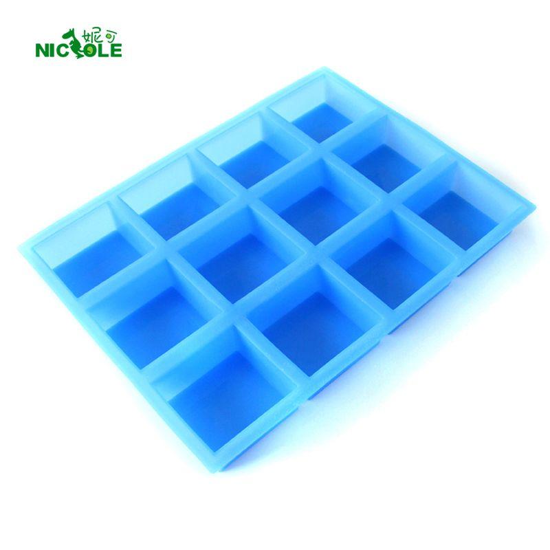Nicole Silikon Seife Form Für Seife, Der 12-Cavity Fondant Kuchen Dekoration Natürliche Handgemachte Swirl Loaf Bar Mould