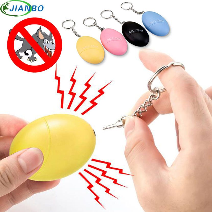 4color Self Defense Alarm 120DB Egg Shape Girl Women Security Protect Alert Personal Safety Scream Loud Keychain Emergency Alarm