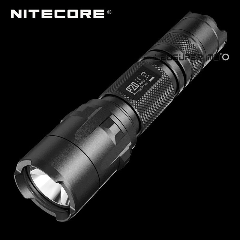 Original Nitecore P20 Precise Series CREE XM-L2 T6 LED 800 Lumens Torch 18650 Tactical Flashlight Hunting with Strobe Ready