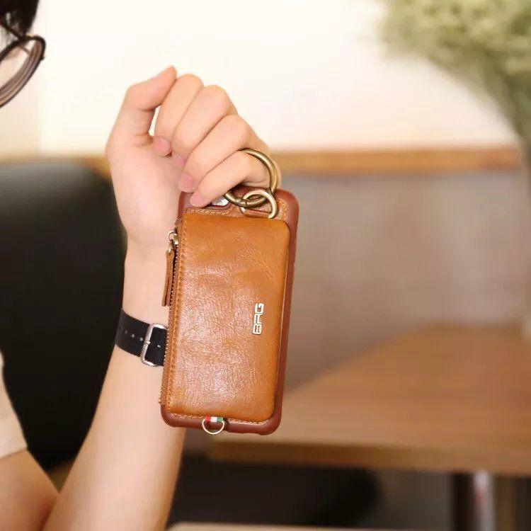 Véritable luxe Housse En Cuir Pour Apple iphone 7 7 Plus 6 S Plus flip Stand De Protection couverture arrière sac pour iphone 8 8 plus 6