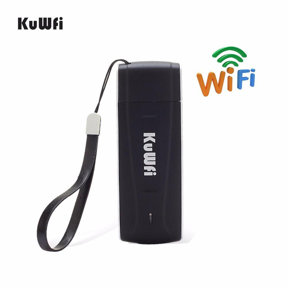 KuWfi 4G routeur Wifi Mini USB LTE routeur sans fil de Poche Mobile Wifi Hotspot Débloqué 4G Modem et Dongle Avec Sim emplacement pour cartes