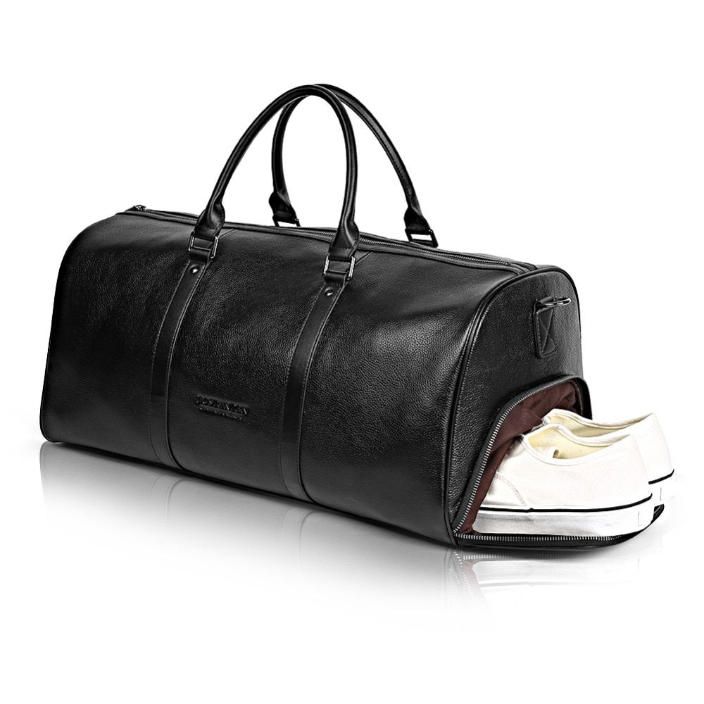 BOSTANTEN Große Große Echtem Leder Männer Reisetaschen Über Nacht Seesack Wochenende Reise Riesige Tote Taschen Crossbody Reisetaschen