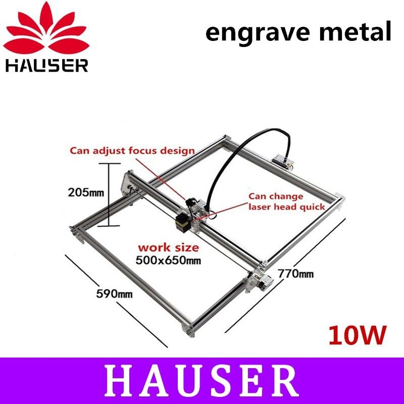 Große power 10 watt laser metall stecher maschine, 50*65 cm, laser modul, laser cutter, co2 laser schnitzen maschine, cncc software
