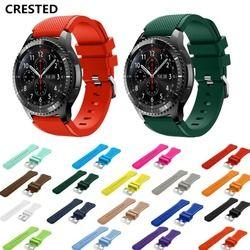 CRISTA Fronteira Cinta Para Samsung Galaxy relógio Engrenagem S3 46mm huawei watch gt cinta 22mm faixa de relógio correa Amazônia xiomi pulseira