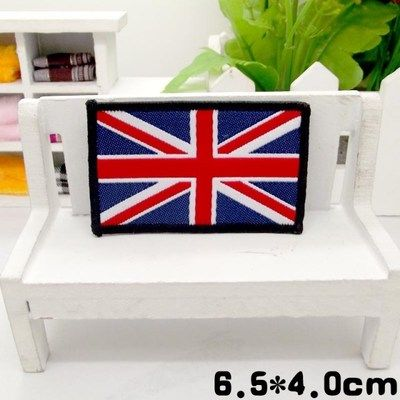 9pcs/set 6.5cm*4cm United Kingdom Flag Embroidered Sew On Patches For Clothes Garment Applique DIY Accessory