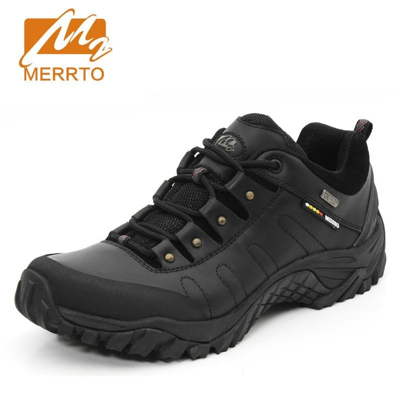 MERRTO Men Waterproof Leather Hiking Shoes Outdoor Trekking Boots Trail Camping Climbing High Quality Outventure Hunting Shoes