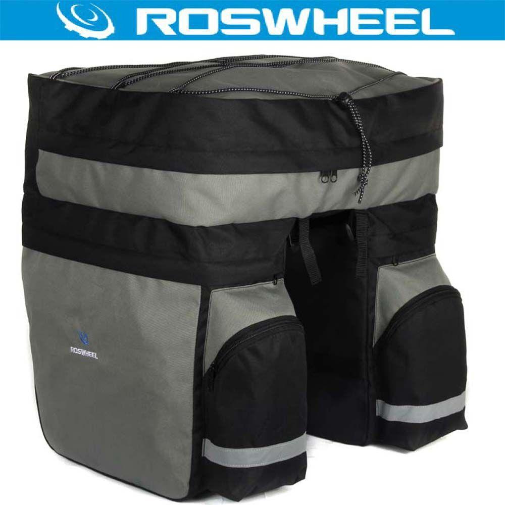 ROSWHEEL 3 in 1 60L Hinten Fahrrad Pannier MTB Große Kapazität radfahren Träger Mountain Road Bike Bag Korb Double Side Gepäckträger