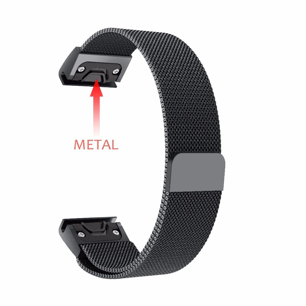 Stainless Steal Band for Garmin Fenix 5/5 Plus/Forerunner 935 Strap Quick Fit WatchBand 22mm Milanese Strap for Fenix 5 Plus