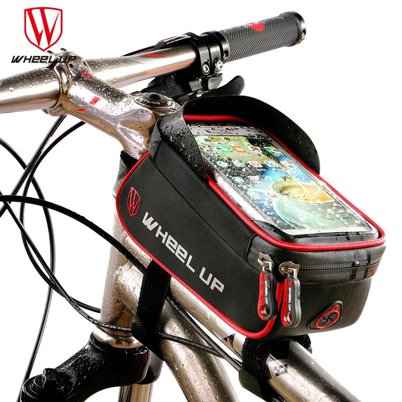 <font><b>WHEEL</b></font> UP Rainproof Front Zipper Bike Bag MTB Mountain Cycle Touch Screen Phone Bags Waterproof GPS Cycling Pouch Panniers 2017