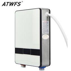 ATWFS Мгновенный водонагреватель 6500 Вт индукционный нагреватель термостат мгновенный горячий душ вода Электрический Проточный Нагреватель ...