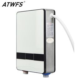 ATWFS Instantaneous Water Heater 6500w Induction Heater Thermostat Instant Hot Shower Water Electric Tankless Shower Heaters