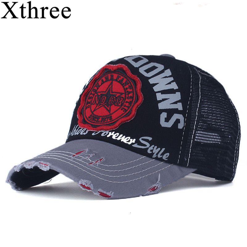 Xthree sommer baseball cap hysteresenhüte casquette stickerei brief cap knochen mädchen hüte für frauen männer kappe
