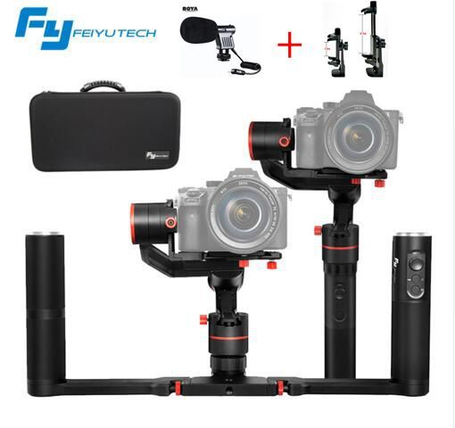 NEW FeiyuTech a1000 3 Axis Gimbal Stabilizer Handheld for NIKON SONY CANON DSLR Camera Gopro Action Cam Smartphone 1.7kg Payload