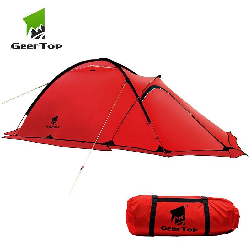 GeerTop Ultraleicht 2 person 4 Saison Alpine Zelt Camping Outdoor Zelt Road Trip Wandern Rucksack Trekking Zelte Wohnzimmer Haus