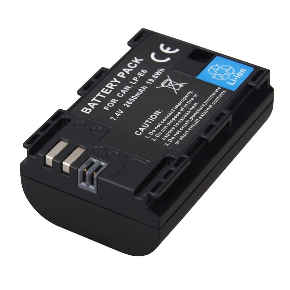 New  LP-E6 2650mAh 7.2V Digital Camera Battery For Canon EOS 5D Mark II 2 III 3 6D 7D 60D 60Da 70D 80D DSLR EOS 5DS Dropshipping
