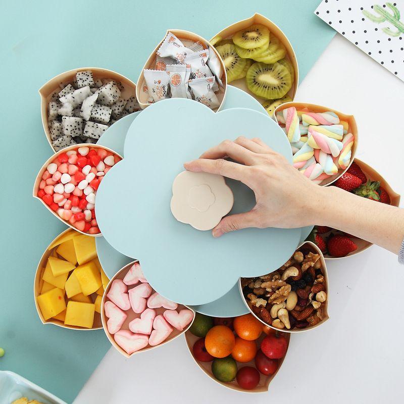 Nouvelle boîte de rangement en plastique pour graines noix bonbons Fruits secs caisse Type prune déjeuner conteneur pour enfants protéger Fruits caisse organisateur