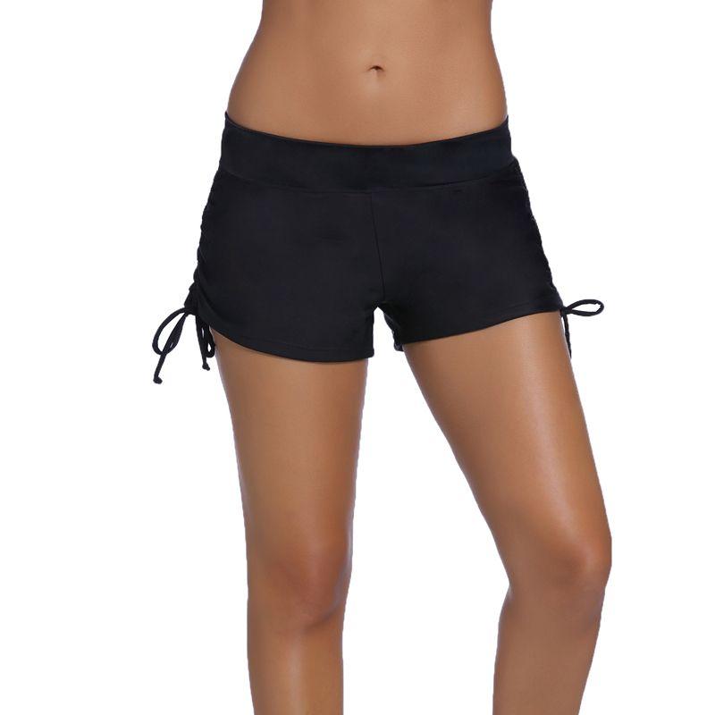 Bikini Bottoms Frauen Boardshort Sport höschen bade slips shorts Zweiteilige Trennt bademode mit rüschen badeanzug 41976