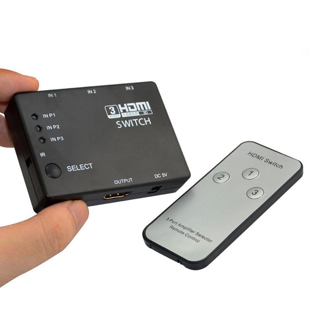 HDCP 3*1 HDMI Splitter Commutateur + Built-In IR À Distance Full HD 1080 p 1.3b 3D 3 en 1 Out Audio Vidéo Sélecteur Pour HDTV DVD PS3 Xbox