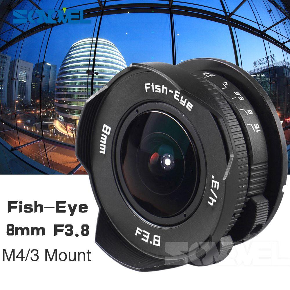 8mm F3.8 Fish-eye C mount Wide Angle Fisheye Lens Focal length Fish eye Lens Suit For Panasonic Olympus Micro Four Thirds M4/3