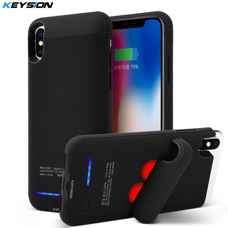 KEYSION Portable Cas De Charge Pour iphone X 4000 mAh Batterie Power Bank pour iphone X Batterie Chargeur Cas pour iPhone 10