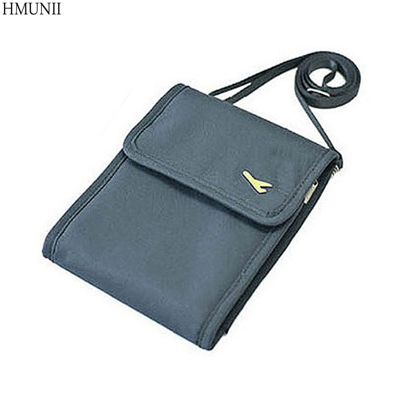 Fashion Women Messenger Passport Cover Travel Wallet Men Travel leisure Inclined shoulder bag wallet security anti-theft package
