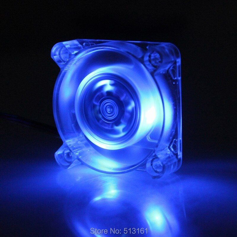 1 Piece Gdstime Blue Led Brushless DC 12V 40mm 4010 3Pin 4cm 40*40x10mm PC Case Cooling Cooler Fan