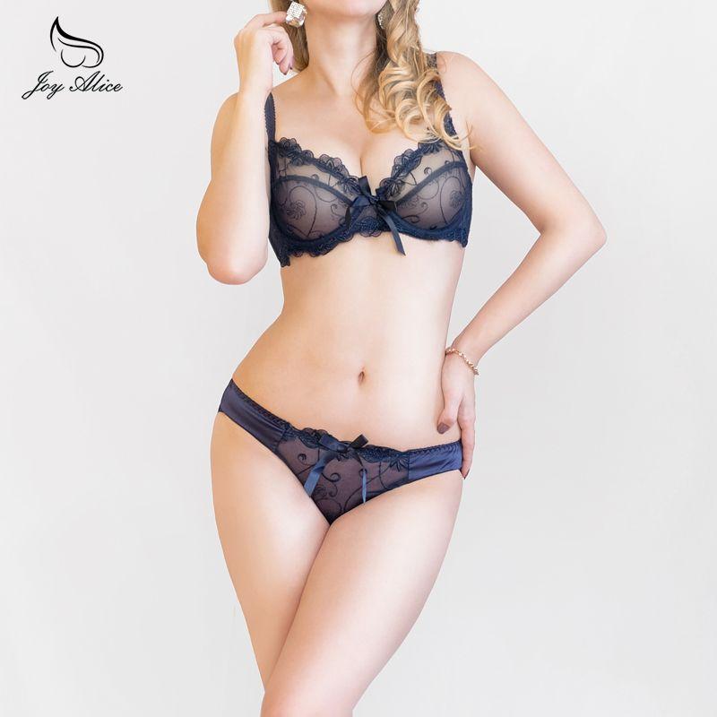 2019 nouveau ABCD France marque dentelle soutien-gorge & slip ensembles push up soutien-gorge ensemble pour femmes ensemble de sous-vêtements brassière lingerie transparente