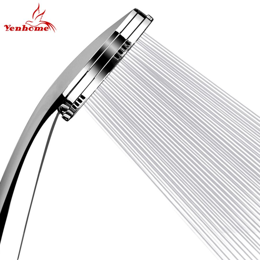 YenHome Hand Hochdruck Duschkopf ABS mit Verchromt Wassersparende Duschkopf Badezimmer Zubehör Kopfbrausen Douche