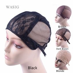 Lace Wig cap for making wigs with adjustable strap on the back weaving cap size S/M/L glueless wig caps hair net hairnets