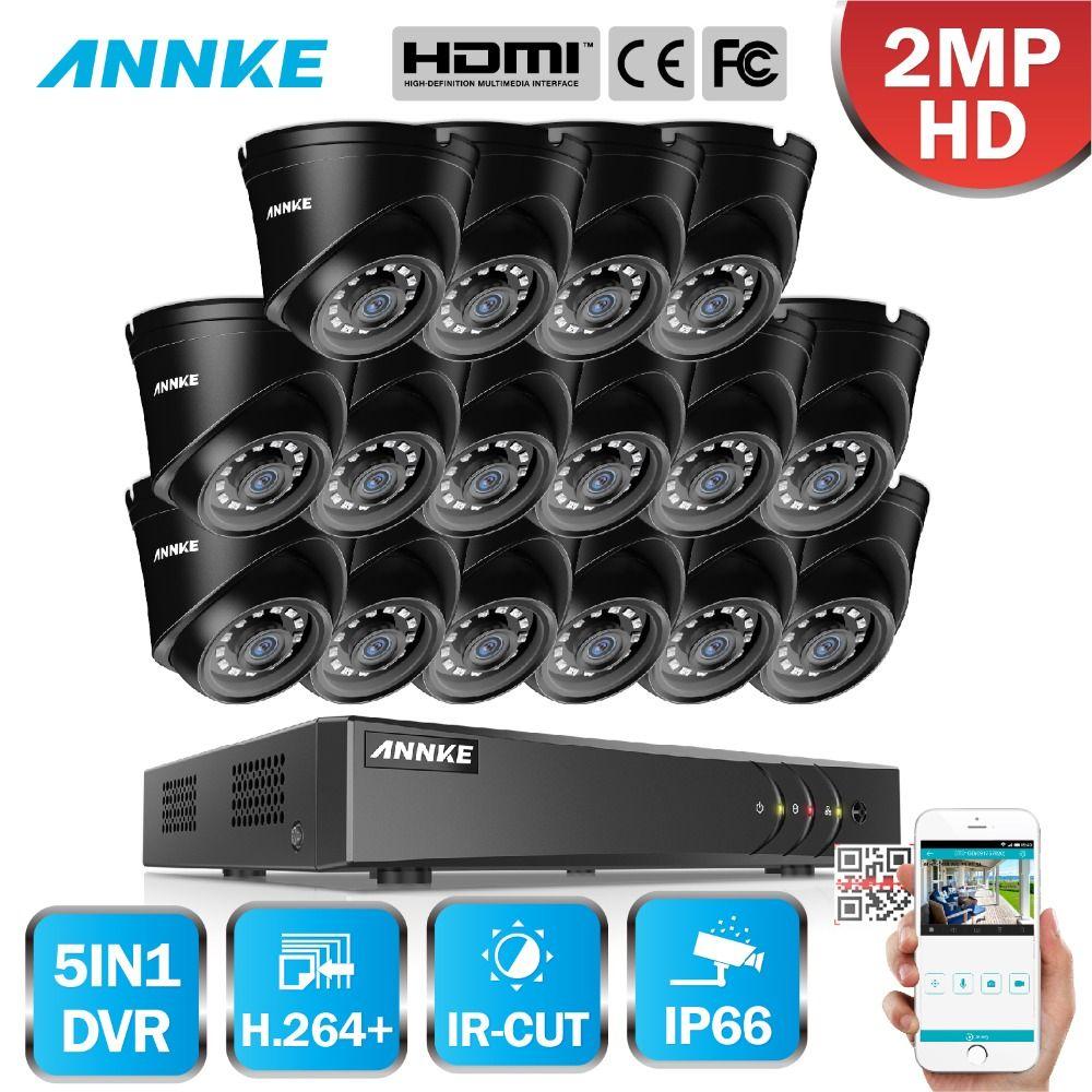 ANNKE 1080 P 16CH CCTV Kamera DVR System 16 stücke Wasserdichte 2.0MP HD-TVI Dome Kameras Home Video Surveillance Kit Motion erkennung