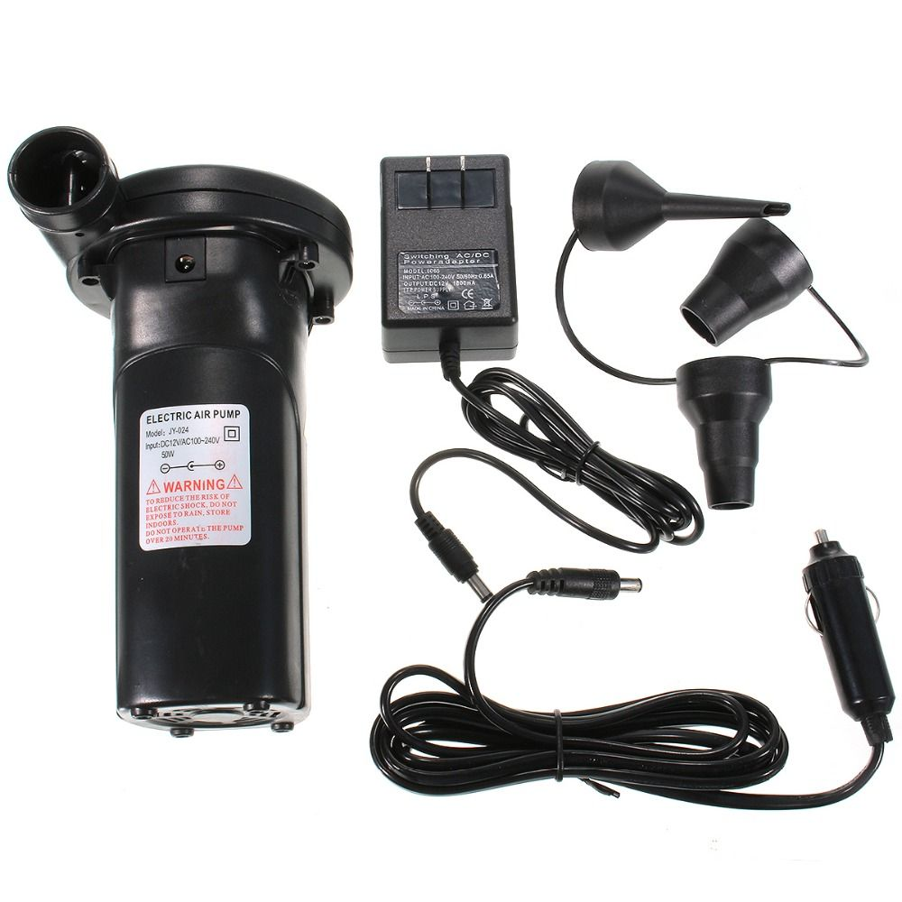 240V/12V Rechargeable Electric Air Pump nickel-cadmium Battery Inflatable Air Pump Vacuum Compression Bag Pump Inflate Reflate