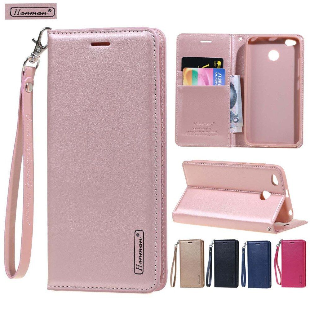 hanman luxury Leather Wallet flip cover case For Xiaomi 5x 6 max2 max 2 coque funda xiaomi Redmi note 4 4X 5 plus pro 5a y1 case