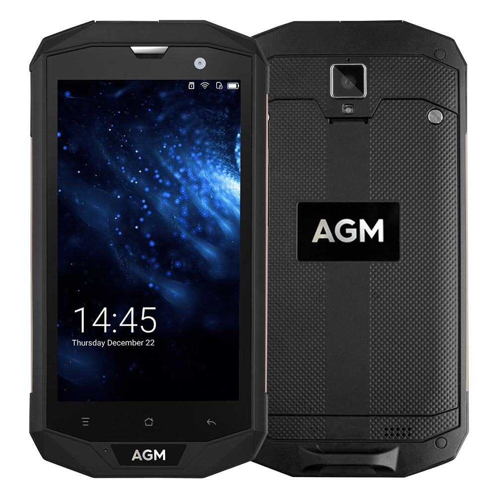 AGM A8 5.0'' HD IP68 4050mAh 4G Smartphone 4GB+64GB Waterproof Android 7.0 MSM8916 Quad Core Mobile Phone 13MP NFC