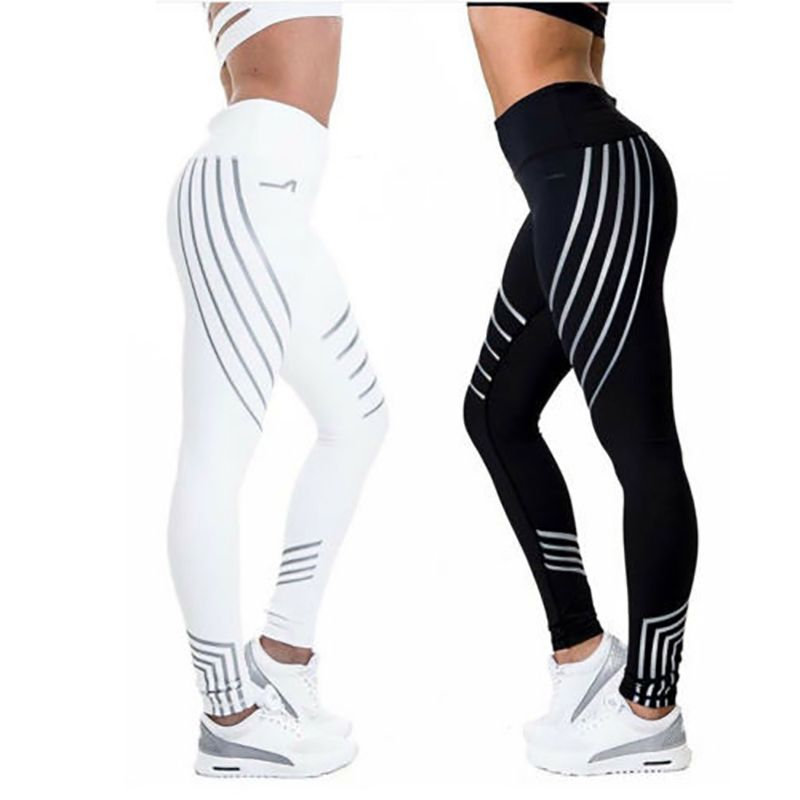 2018Sports Trouser Fitness Leggings Women Sport Quick Dry Running Pants Leggins Quick Dry Night Glowing Tights Leggings Fitness
