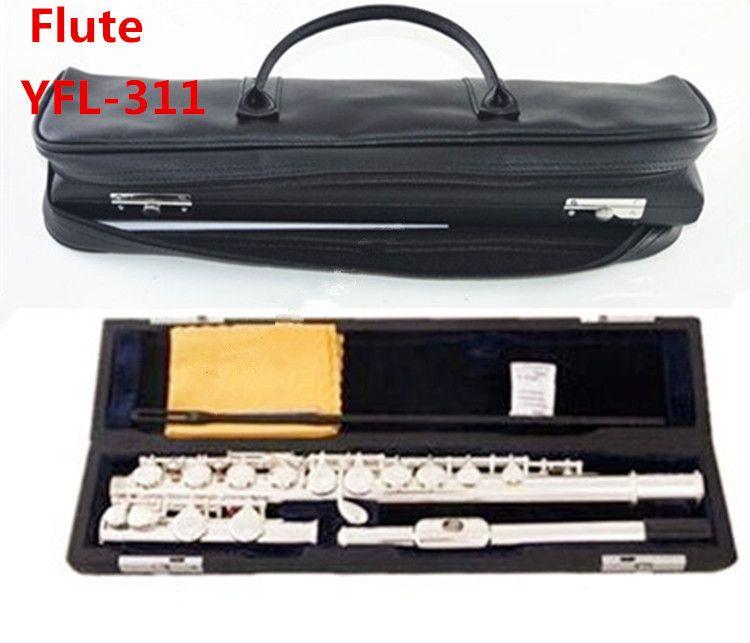 Freies verschiffen Hohe qualität Japan flöte FL-311SL musical instrument Flöte 16 über C Tune E-Key Flöte musik und leathe fall