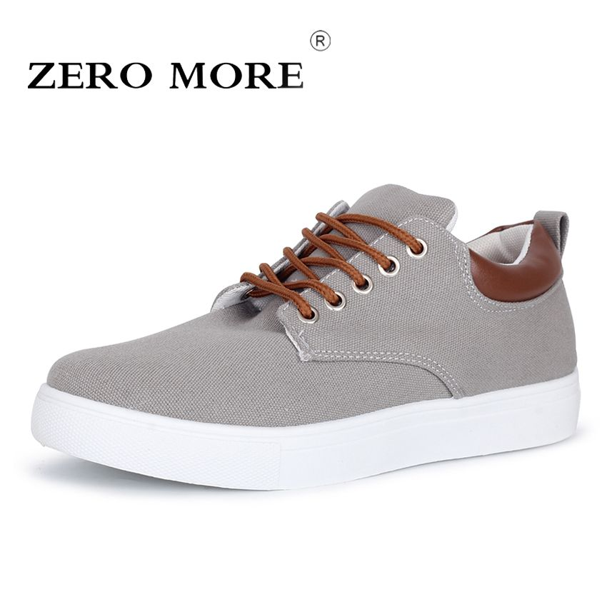 <font><b>ZERO</b></font> MORE New Arrival Spring Summer Comfortable Casual Shoes Big Size Mens Canvas Shoes For Men Lace Up Brand Fashion Flat Shoes