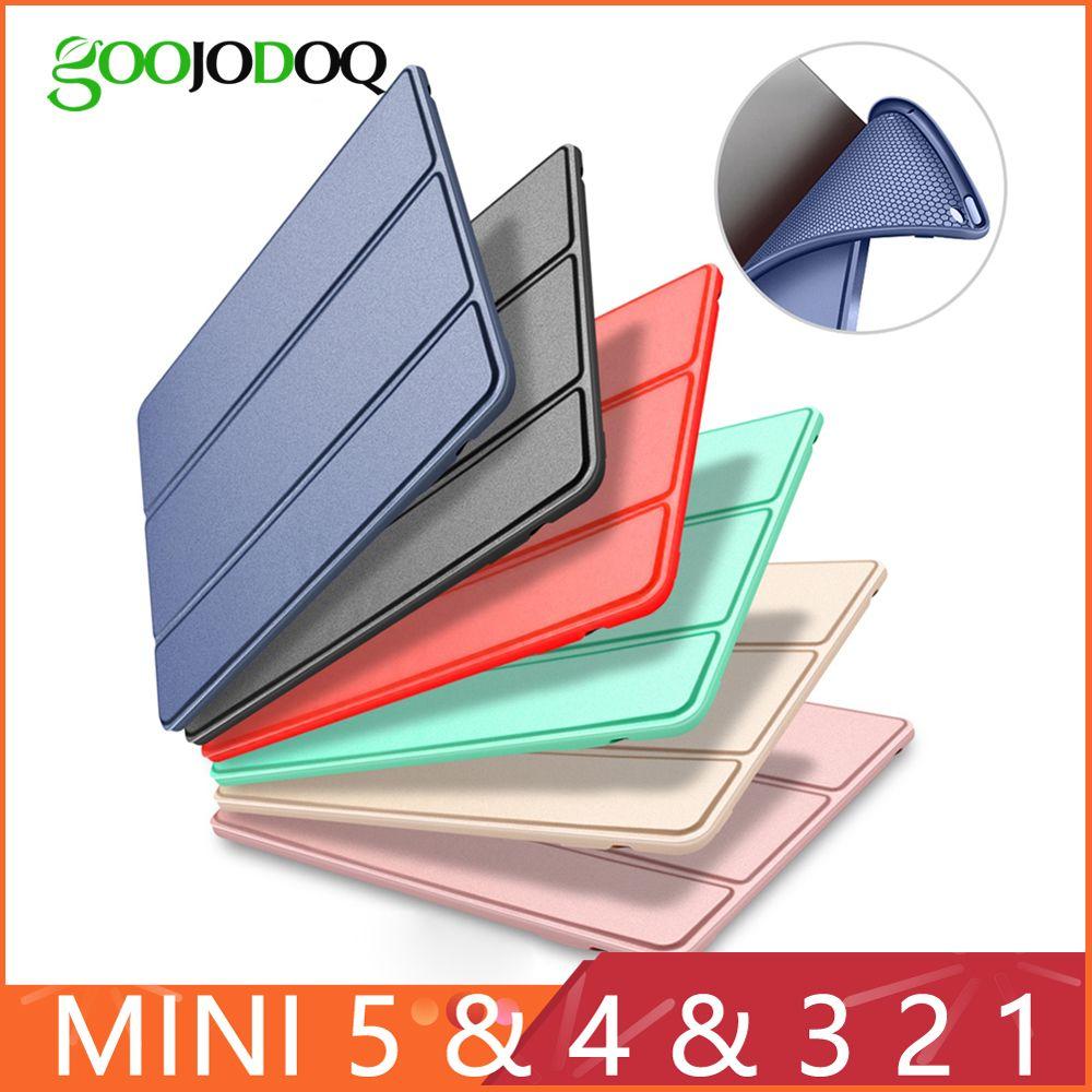 Étui pour iPad Mini 4 3 2 1 étui en cuir PU Silicone souple à trois volets support sommeil couverture intelligente pour iPad Mini 2 5 2019 étui Funda