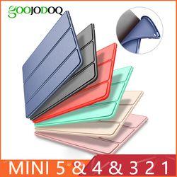 Fall für iPad Mini 4 3 2 1 Fall PU Leder Silikon Weiche Zurück Trifold Ständer Schlaf Smart Abdeckung für iPad Mini 2 5 2019 Fall Funda