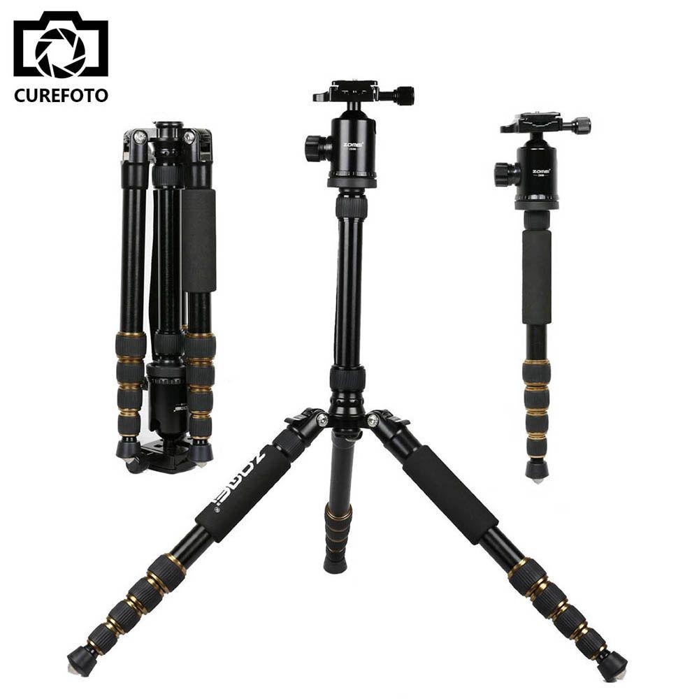 ZOMEI professionnel Portable Z699 trépied en aluminium pour DSLR caméra caméscope voyage trépied support amovible monopode avec tête à billes