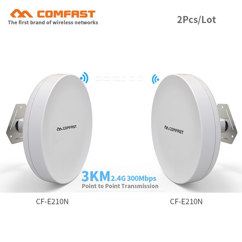 2pcs High power Outdoor wireless cpe bridge CF-E210N wifi access point transmission AP routers wifi extender amplifier repeater