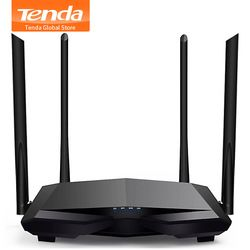 Tenda New AC6 2.4G/5.0GHz Smart Dual Band AC1200 Wireless WiFi Router Wi-Fi Repeater, APP Remote Manage, English Interface
