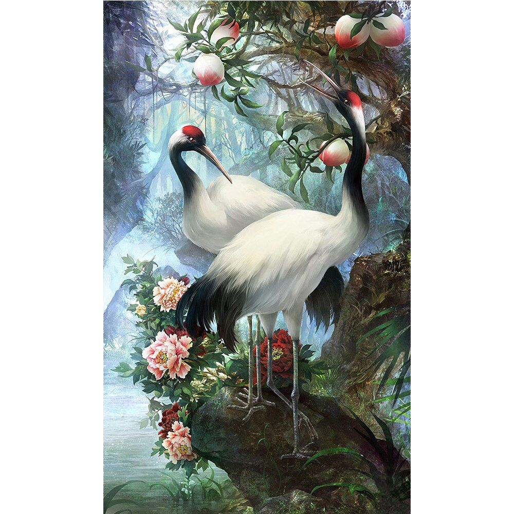 Bird Diamond Painting Animal Round Crystal Cross Stitch Picture Diamond Embroidery Landscape Mosaic Flower Home Decoration YZ3