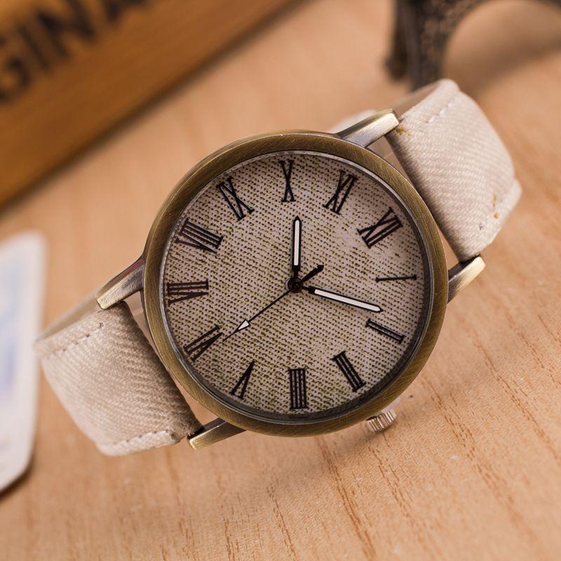 Sport Watches Men Casual Brand imitation Denim fabric Leather Wristwatches Clock Male Quartz Watch Relogio Masculino 2016
