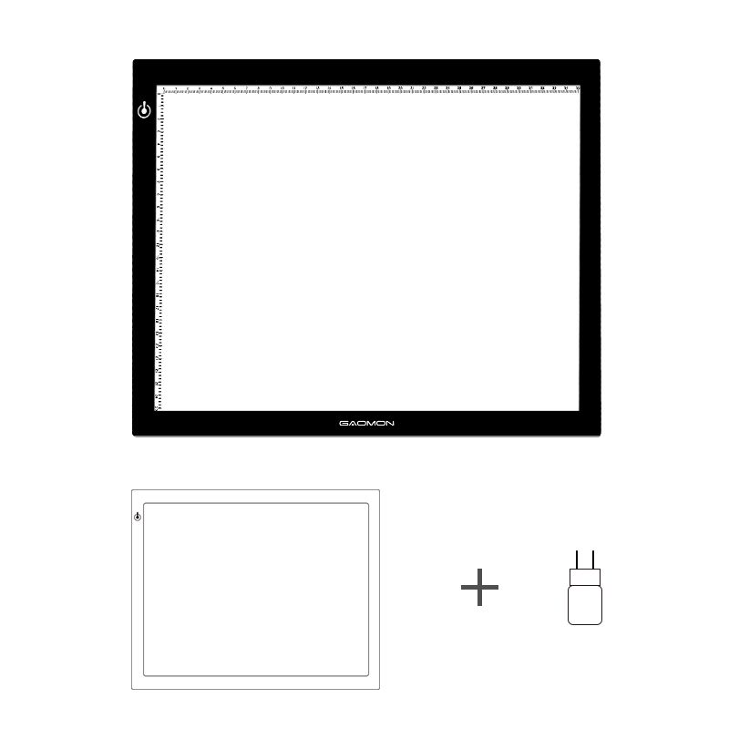 New GAOMON GB4 LED Light Box 5MM Ultrathin Light Pad USB Art Tracing Board for Sketch and Copy with EU Adapter