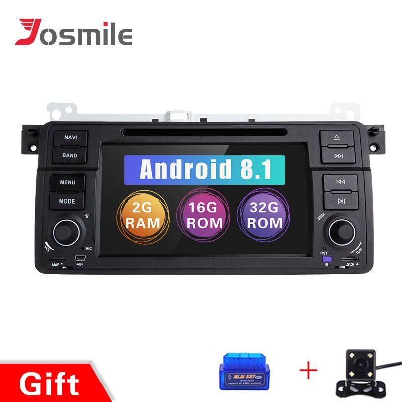 Josmile Auto Multimedia-Player 1 Din Android 8.1 Für BMW E46 M3 Rover 75 Coupe Navigation GPS DVD Auto Radio 318 /320/325/330/335