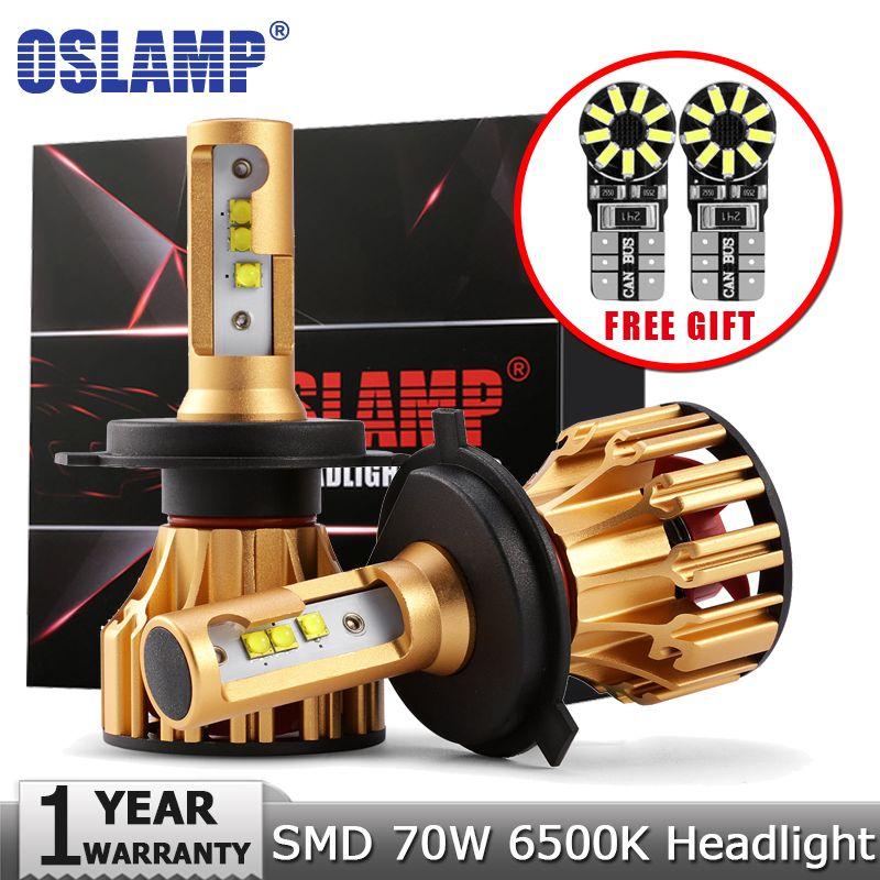 Oslamp H4 H7 H11 9005 9006 Car LED <font><b>Headlight</b></font> Bulbs SMD Chip 70W 7000LM 6500K 12v 24v Auto Led Headlamp Fog Light Bulb <font><b>Headlights</b></font>