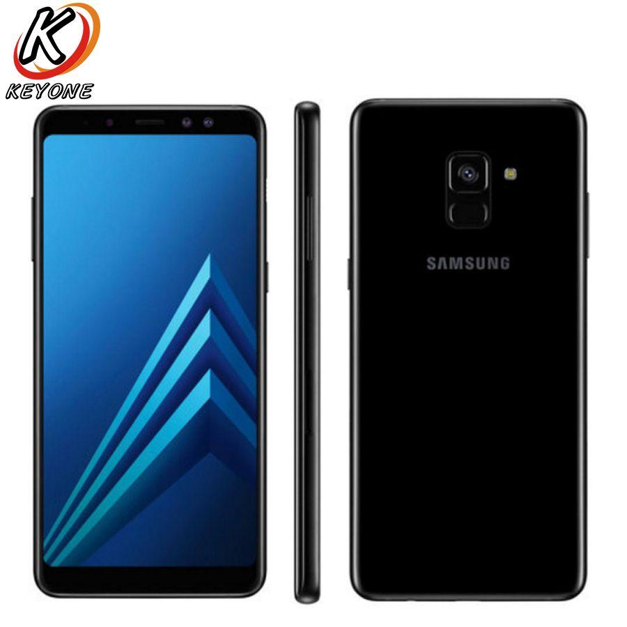 Marke Neue Samsung Galaxy A8 PLUS A8 + 2018 A730F-DS Handy 6,0 6 gb RAM 64 gb ROM octa Core 3500 mah Dual Vorne Kamera Telefon