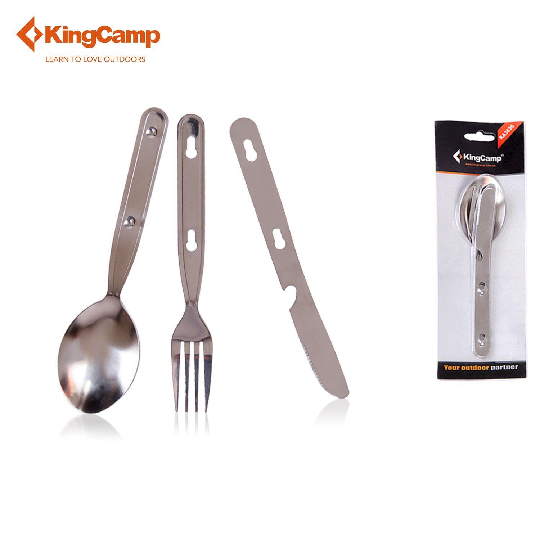 KingCamp Camping Kochgeschirr Außen Edelstahl Kochgeschirr-Löffel Gabel & Messerset für Camping & Trekking & Wandern Geschirr