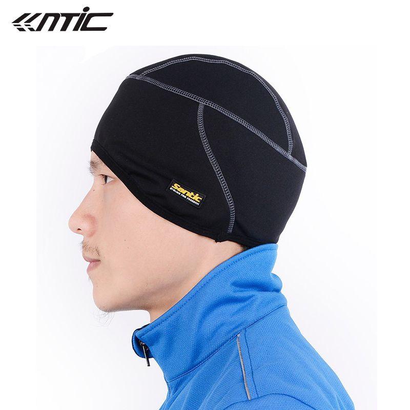 SANTIC Fleece Thermal Winter <font><b>Outdoor</b></font> Sports Hiking Skiing Hat Bike Bicycle Cycling Helmet Headband Liner Windproof Cap C09005